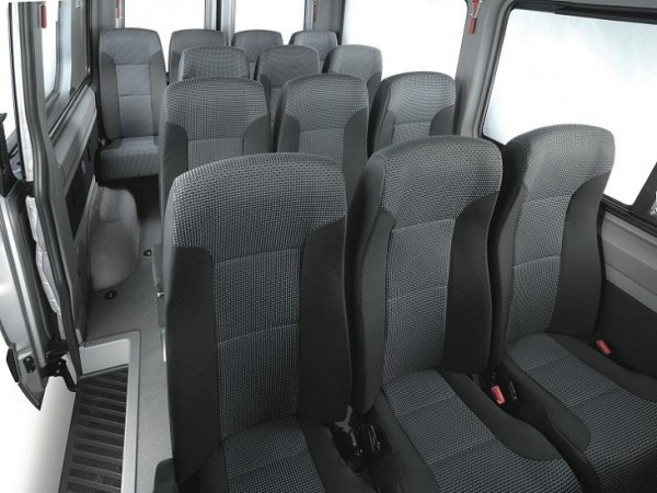 Mercedes Sprinter bus Rental Warsaw Airport                   interior 1