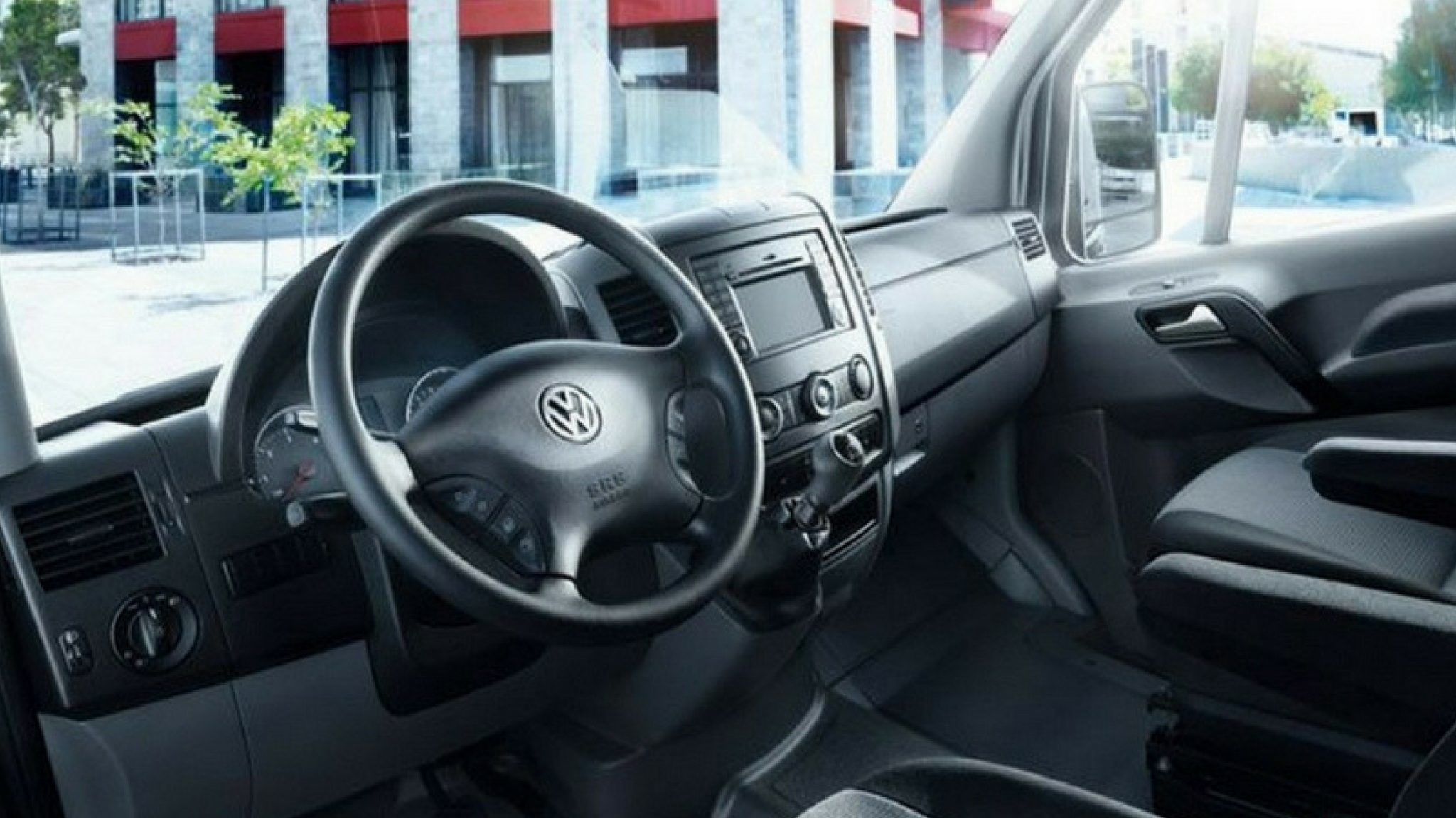VW Crafter                     van Rental Warsaw interior 1
